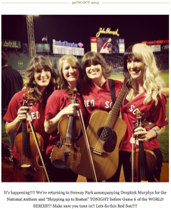 Parkington Sisters at Fenway