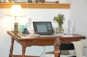 My writing desk at Wellspring House