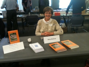 Mary McAvoy at Westford Mass booksale 2