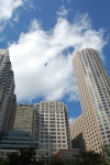 Boston highrises against bluesky