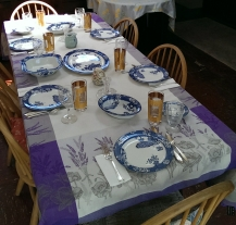 the Easter table all set