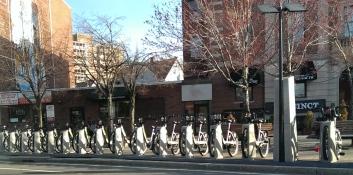 Hubway bike station