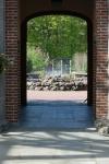 Tower Hill Botanic Garden doorway to the SystematicGarden