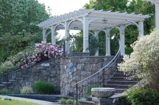 Pergolas at Tower Hill Botanic Garden