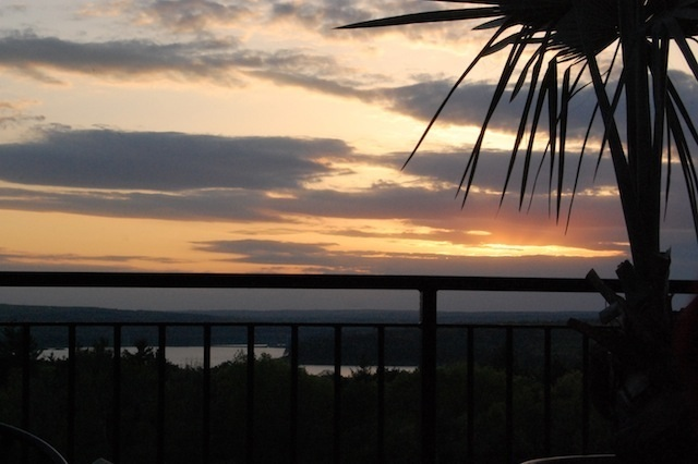 golden sunset at Tower Hill Botanic Garden