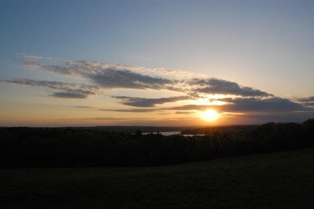 golden-sunset at Tower Hill Botanic Garden