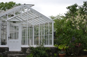 old glass conservatory