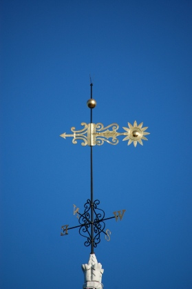 gold weather vane