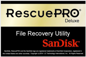 RescuePro application software to recover deleted files from a SanDisk