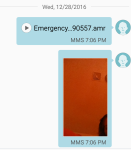 Samsung alert message